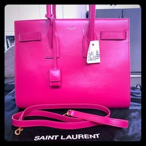 Saint Laurent small sac de jour bubblegum pink NWT